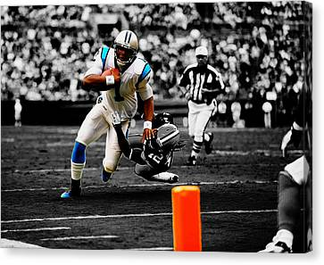 Cam Newton Eye On The Prize Canvas Print by Brian Reaves