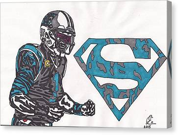 Cam Newton Superman Edition Canvas Print by Jeremiah Colley