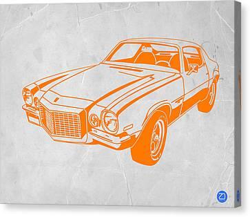 Camaro Canvas Print by Naxart Studio