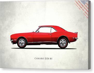 Camaro Z 28 1968 Canvas Print by Mark Rogan