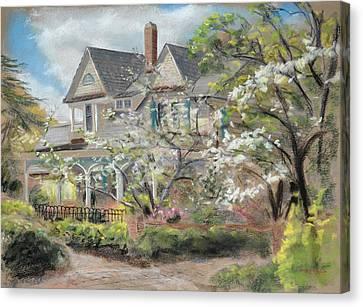 Camelia Cottage Canvas Print by Christopher Reid