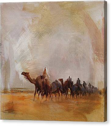 Camels And Desert 15 Canvas Print by Mahnoor Shah