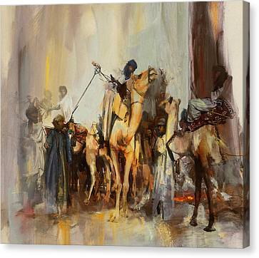 Camels And Desert 21 Canvas Print by Mahnoor Shah