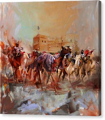 Camels And Desert 37 Canvas Print by Mahnoor Shah