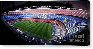 Camp Nou Canvas Print by Agusti Pardo Rossello