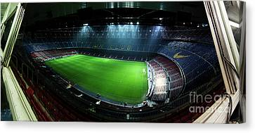 Camp Nou At Night Canvas Print by Agusti Pardo Rossello