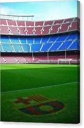 Camp Nou - Barcelona Canvas Print by Juergen Weiss