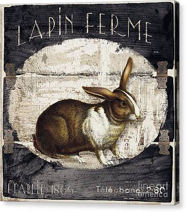 Campagne Iv Rabbit Farm Canvas Print by Mindy Sommers