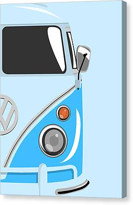 Camper Blue 2 Canvas Print by Michael Tompsett