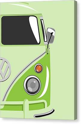 Camper Green 2 Canvas Print by Michael Tompsett