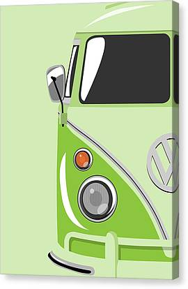 Camper Green Canvas Print by Michael Tompsett