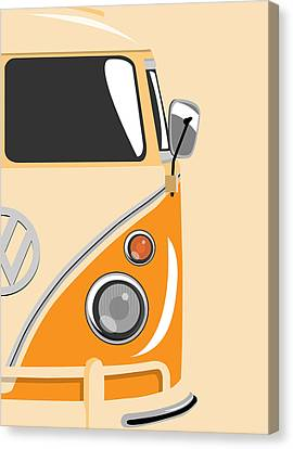 Camper Orange 2 Canvas Print by Michael Tompsett