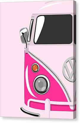 Camper Pink Canvas Print by Michael Tompsett