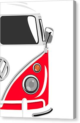 Camper Red 2 Canvas Print by Michael Tompsett