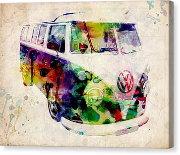 Camper Van Urban Art Canvas Print by Michael Tompsett