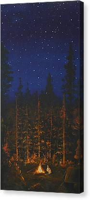 Camping In The Nothwest Canvas Print by Jennifer Lynch