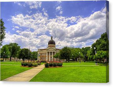 Campus Life At Southern Miss Canvas Print by JC Findley