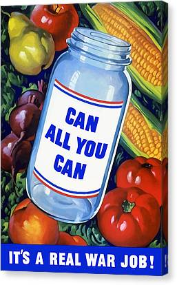 Can All You Can -- Ww2 Canvas Print by War Is Hell Store