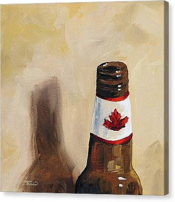 Canadian Beer Canvas Print by Torrie Smiley