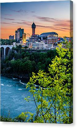 Canadian Falls Skyline Canvas Print by Carlos Ruiz