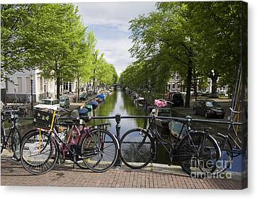 Canal Of Amsterdam Canvas Print by Joshua Francia