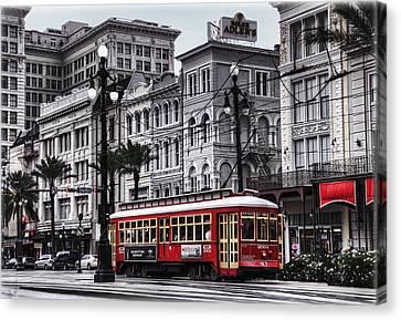 Canal Street Trolley Canvas Print by Tammy Wetzel