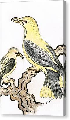 Canary- Birds Canvas Print by Teresa White