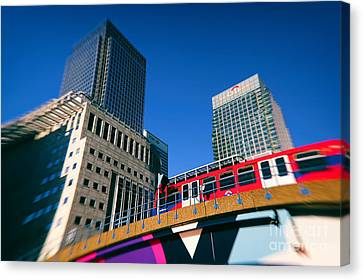 Canary Wharf Commute Canvas Print by Jasna Buncic