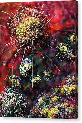 Cancer Cells Canvas Print by Russell Kightley