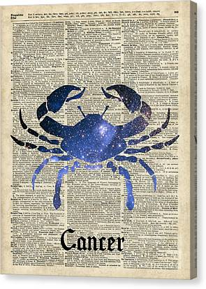 Cancer Crab Zodiac Sign  Canvas Print by Jacob Kuch