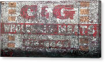 Candg Meats Canvas Print by Jame Hayes