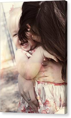 Candid Little Girl With Mother In The Autumn Park Canvas Print by Jorgo Photography - Wall Art Gallery