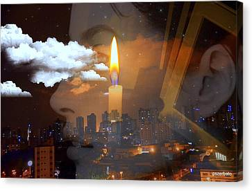 Candle Flame Canvas Print by Paulo Zerbato