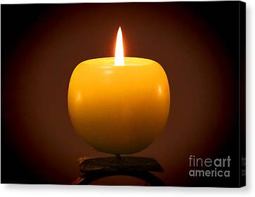 Candle In The Night Canvas Print by Mariola Bitner