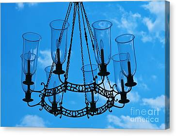 Candle In The Sky Canvas Print by Hideaki Sakurai