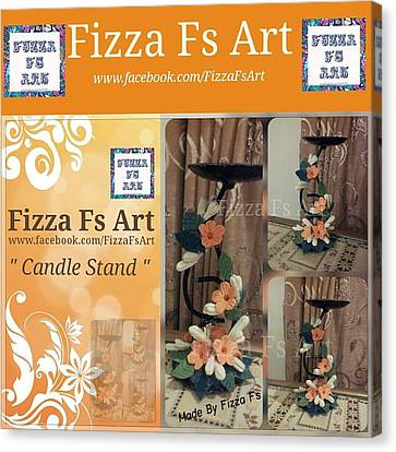 Candle Stand Canvas Print by Fizza  Shahid