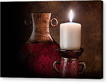Candle Canvas Print by Tom Mc Nemar