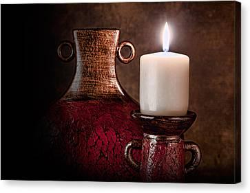 Candle Canvas Print by Tom Mc Nemar