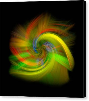 Candy Mountain Twirl Canvas Print by Debra and Dave Vanderlaan
