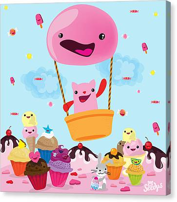 Candy World Canvas Print by Seedys World