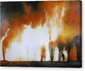 Cane Burning Canvas Print by Christopher Chua
