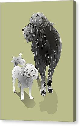 Canine Friendship Canvas Print by MM Anderson