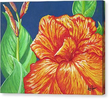 Canna Flower Canvas Print by Adam Johnson
