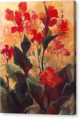 Canna Rising Canvas Print by Mary Scott