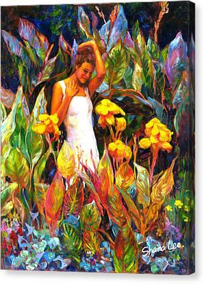 Canna Canvas Print by Shaina  Lee