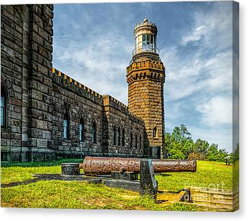 Cannon At Navesink Canvas Print by Nick Zelinsky