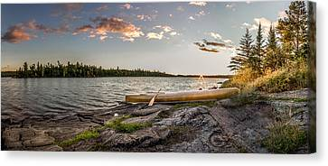 Canoe // Bwca, Minnesota  Canvas Print by Nicholas Parker