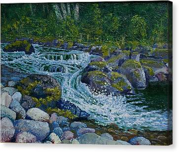 Canyon Creek Cadence Canvas Print by Ron Smothers