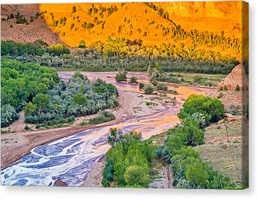 Tsegi Sunset - Canyon De Chelly National Monument Photograph Canvas Print by Duane Miller