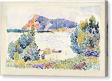 Cap Negre Seacape Canvas Print by Henri-Edmond Cross